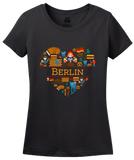 Ladies Black Germany Love: Berlin - German History Culture Fun Cute Gift T-shirt