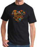 Standard Black Germany Love: Hessen - German History Culture State Cute T-shirt