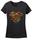 Ladies Black Germany Love: Nordrhein Westfalen - German Culture Cute Heritage T-shirt