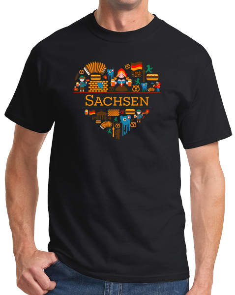 Standard Black Germany Love: Sachsen - German Pride History Culture Saxony Cute T-shirt