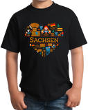 Youth Black Germany Love: Sachsen - German Pride History Culture Saxony Cute T-shirt