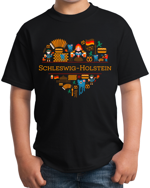 Youth Black Germany Love: Schleswig-Holstein - German Heritage Culture Cute T-shirt