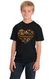 Youth Black Germany Love: Thueringen - German Heritage Culture Cute Fun T-shirt