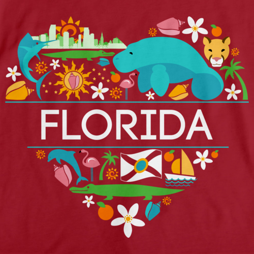 I Love Florida Red Art Preview
