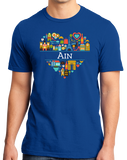 Standard Royal France Love: Ain - French Pride Culture Heritage Geography Cute T-shirt