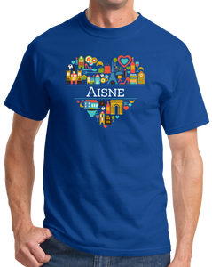 Standard Royal France Love: Aisne - French Culture Pride Heritage Geography T-shirt