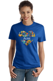 Ladies Royal France Love: Aube - French Culture Heritage Pride Cute Heart T-shirt