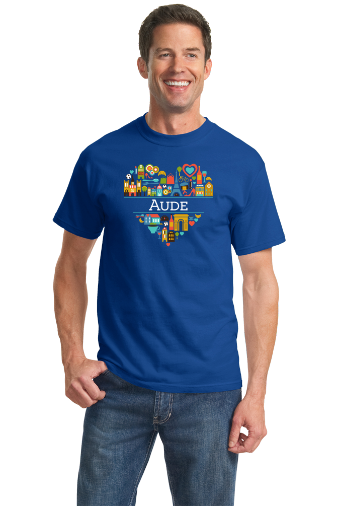 Standard Royal France Love: Aude - French Pride Culture Heritage Cute Heart T-shirt