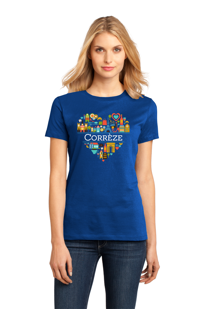 Ladies Royal France Love: Correze - French Pride Culture Iconography Cute T-shirt