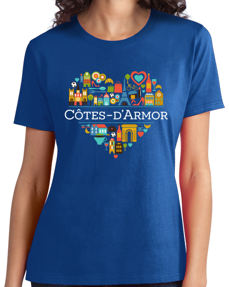 Ladies Royal France Love: Cotes D'Armor - French Culture Iconography Cute T-shirt