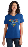 Ladies Royal France Love: Creuse - French Heritage Pride Iconography Cute T-shirt