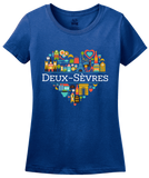 Ladies Royal France Love: Deux Sevres - French Culture Iconography Cute T-shirt