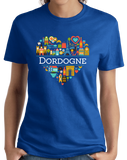 Ladies Royal France Love: Dordogne - French Culture Iconography Cute Fun T-shirt
