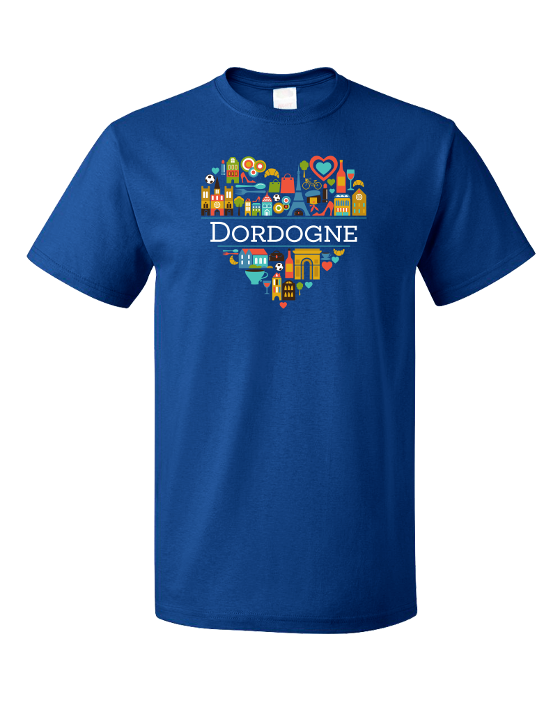 Standard Royal France Love: Dordogne - French Culture Iconography Cute Fun T-shirt