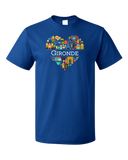 Standard Royal France Love: Gironde - French Pride Heart Culture Heritage Cute T-shirt