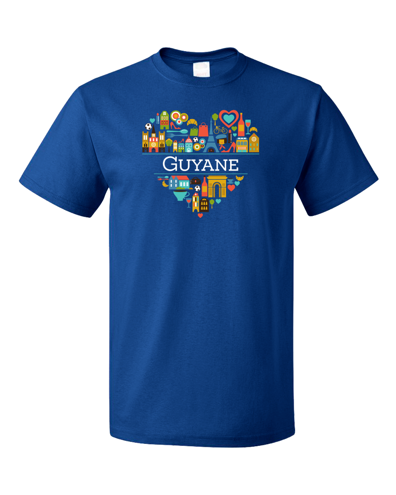 Standard Royal France Love: Guyane - French Heritage Cute Heart Pride Icons T-shirt