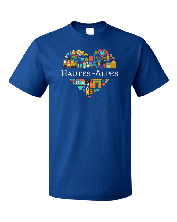 Standard Royal France Love: Hautes Alpes - French Pride Heart Cute History T-shirt