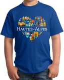 Youth Royal France Love: Hautes Alpes - French Pride Heart Cute History T-shirt