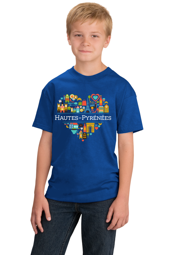 Youth Royal France Love: Hautes Pyrenees - French Heritage Pride Cute T-shirt