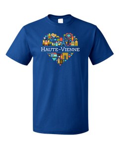 Standard Royal France Love: Haute Vienne - French Pride Heart Heritage Culture T-shirt