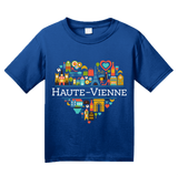 Youth Royal France Love: Haute Vienne - French Pride Heart Heritage Culture T-shirt