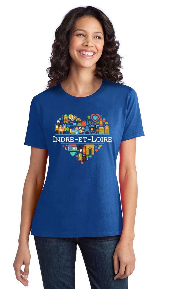 Ladies Royal France Love: Indre Et Loire - French Culture Heritage Cute T-shirt