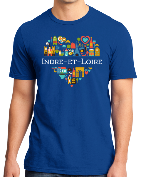 Standard Royal France Love: Indre Et Loire - French Culture Heritage Cute T-shirt
