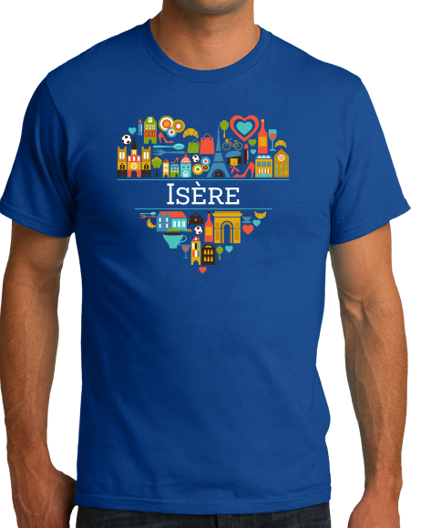Standard Royal France Love: Isere - French Culture Iconography Heart Cute T-shirt