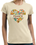 Ladies Natural France Love - French Pride Culture Heritage Favorite Cute T-shirt