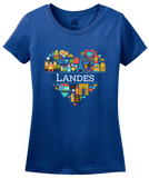 Ladies Royal France Love: Landes - French Culture Heritage Heart Cute Fun T-shirt