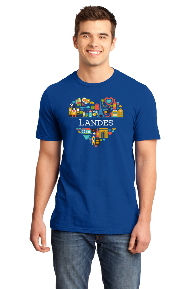 Standard Royal France Love: Landes - French Culture Heritage Heart Cute Fun T-shirt