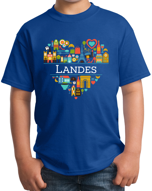 Youth Royal France Love: Landes - French Culture Heritage Heart Cute Fun T-shirt