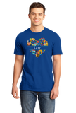 Standard Royal France Love: Lot - French Geography Cute Cahors Icons Heart T-shirt
