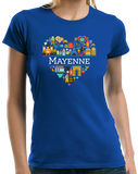 Ladies Royal France Love: Mayenne - French Culture History Heritage Cute T-shirt