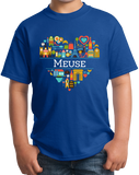 Youth Royal France Love: Meuse - French History WW1 Heritage Cute Heart T-shirt
