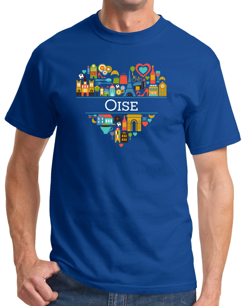 Standard Royal France Love: Oise - French Pride Heritage Picardy Cute Culture T-shirt