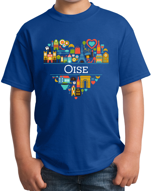 Youth Royal France Love: Oise - French Pride Heritage Picardy Cute Culture T-shirt