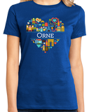 Ladies Royal France Love: Orne - French Pride Heritage Camembert Cute T-shirt
