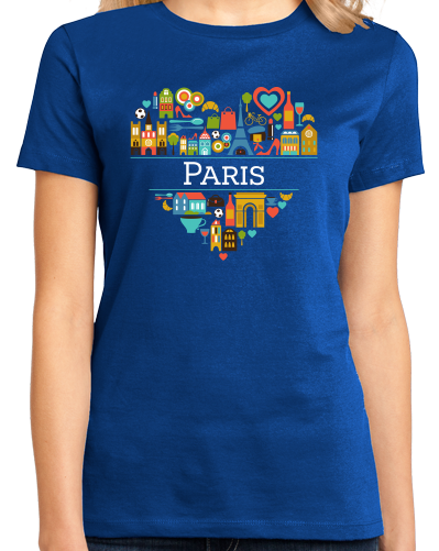 Ladies Royal France Love: Paris - French Culture City of Lights Cute Icon T-shirt