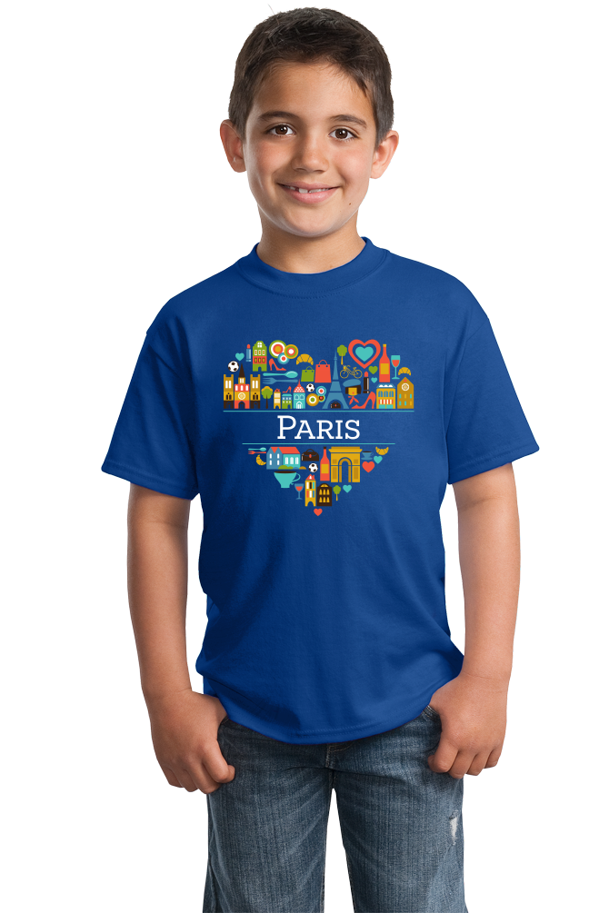 Youth Royal France Love: Paris - French Culture City of Lights Cute Icon T-shirt