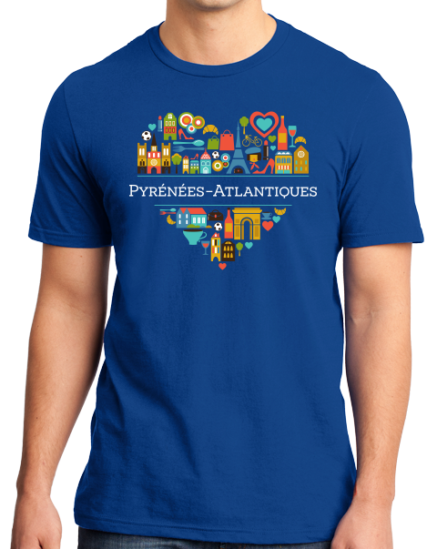 Standard Royal France Love: Pyrenees Atlantiques - French Heritage Basque T-shirt