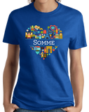 Ladies Royal France Love: Somme - French History Pride Culture Picardy Cute T-shirt
