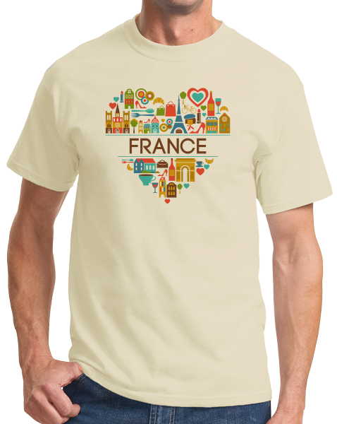Standard Natural France Love - French Pride Culture Heritage Favorite Cute T-shirt