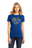 Ladies Royal France Love: Territoire De Belfort - French Heritage Culture T-shirt