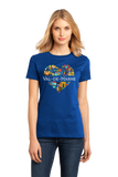Ladies Royal France Love: Val De Marne - French History Culture Cute Icon T-shirt