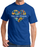 Standard Royal France Love: Val De Marne - French History Culture Cute Icon T-shirt