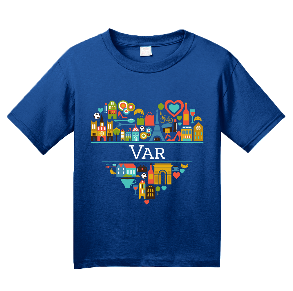 Youth Royal France Love: Var - French Pride Culture Côte d'Azur Heart Cute T-shirt