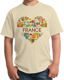 Youth Natural France Love - French Pride Culture Heritage Favorite Cute T-shirt