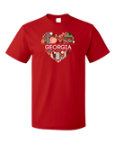 Standard Red Georgia Love - Georgia Love On My Mind Peachtree State Cute T-shirt
