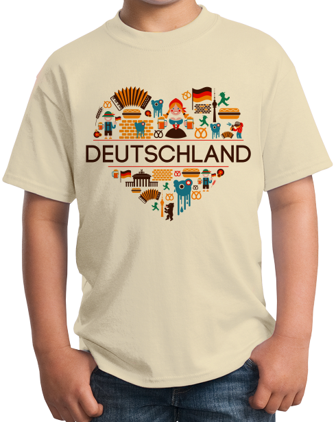 Youth Natural Deutschland Love - Germany German Heritage Pride Culture Cute T-shirt